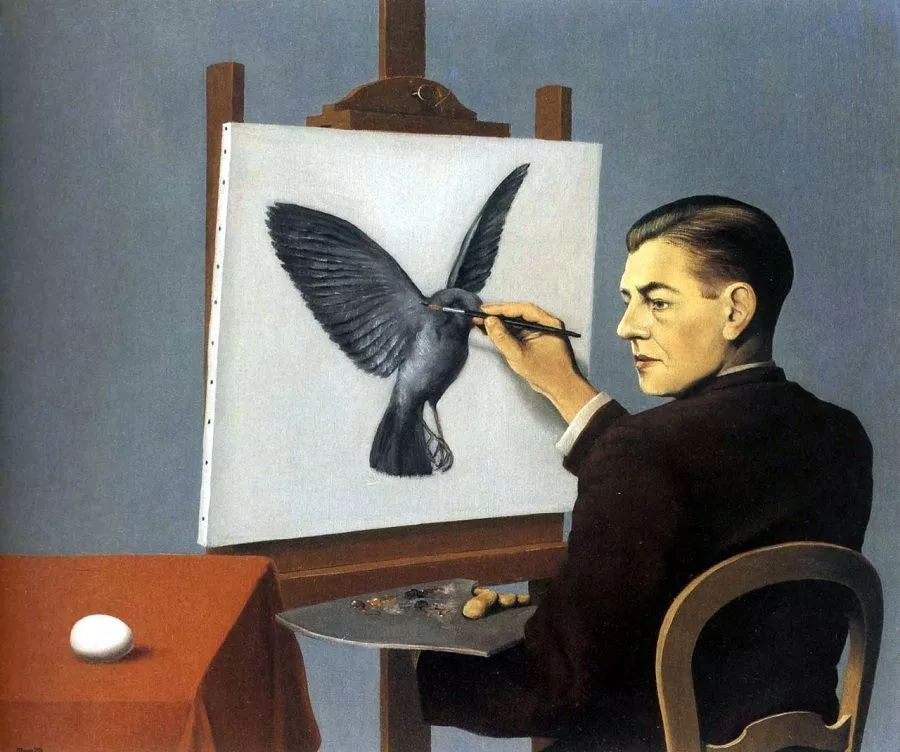 普雷维尔 一只鸟的画像