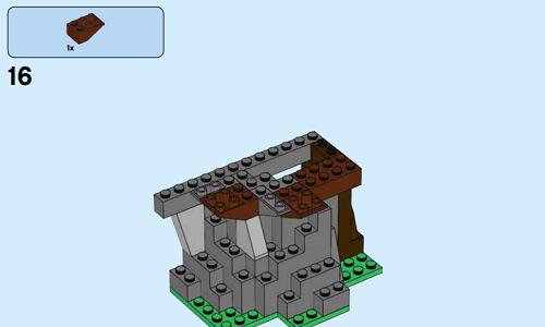 用乐高积木制作树屋,60173系列搭建图纸,男孩女孩都能