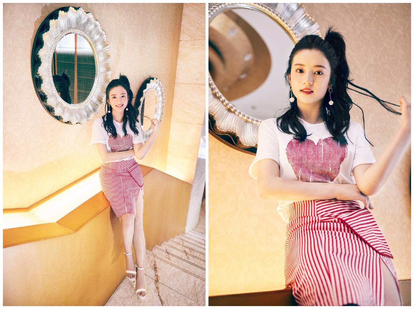 96年小花搭档杨幂出演《扶摇》,除了颜值高衣品更是少女风典范