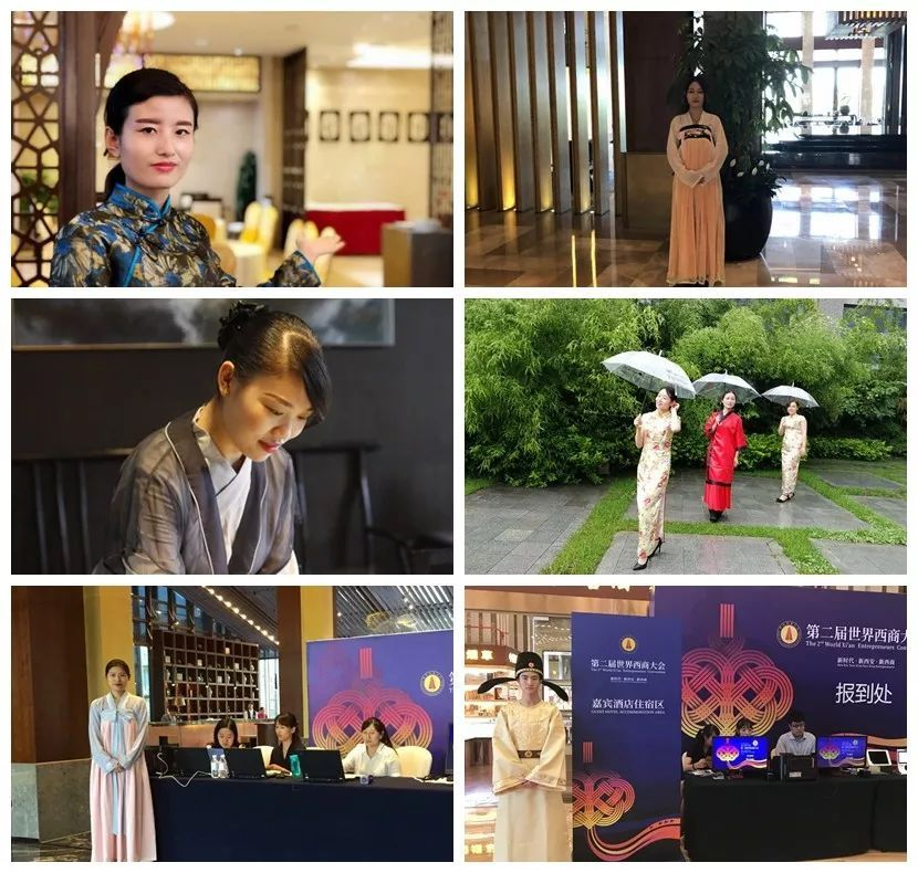 右上:曲江国际饭店;左中:曲江银座酒店;右中:西安大唐芙蓉园芳林苑图片