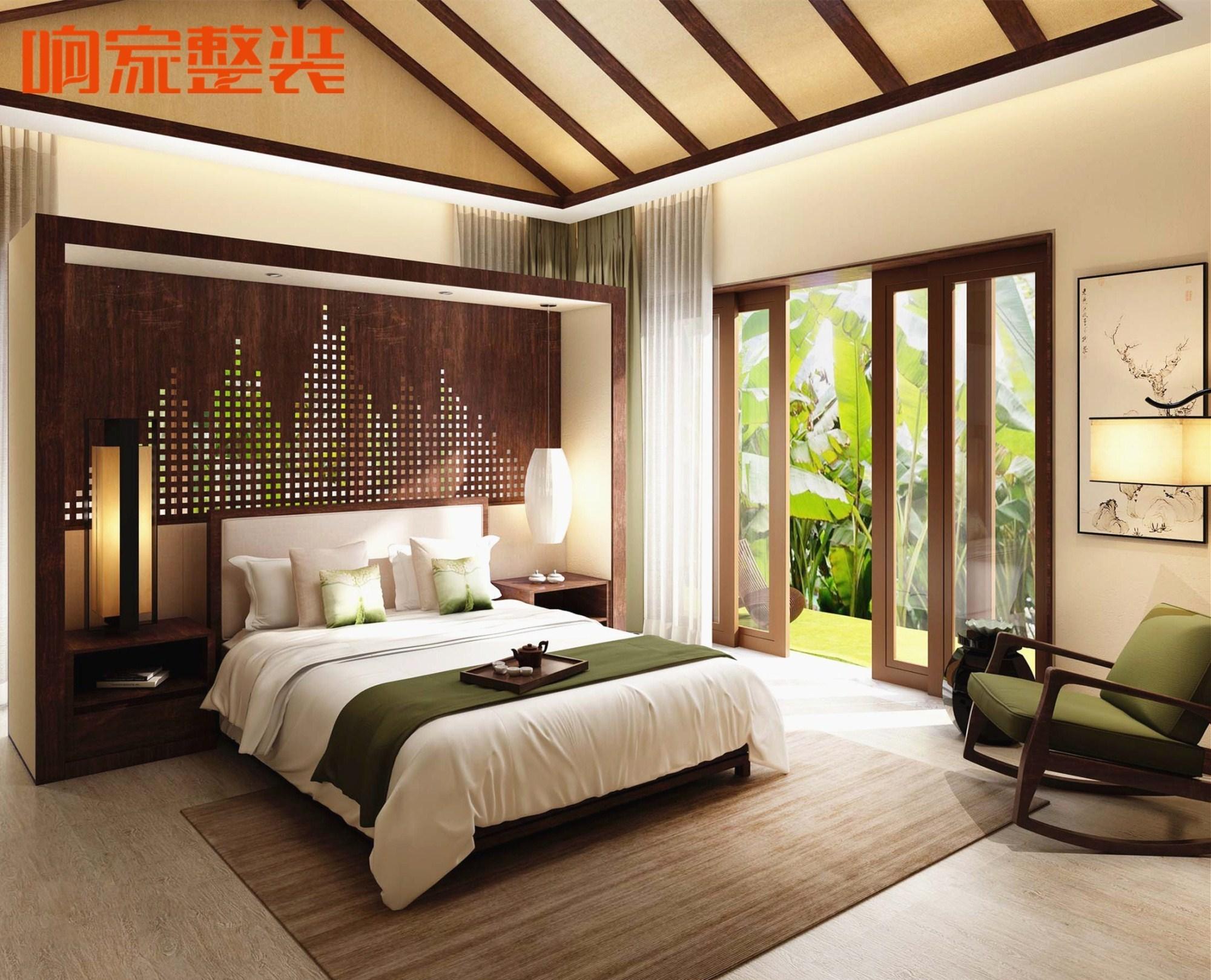 20款新中式风格卧室装修效果图,皇帝都没住过种卧室!图片