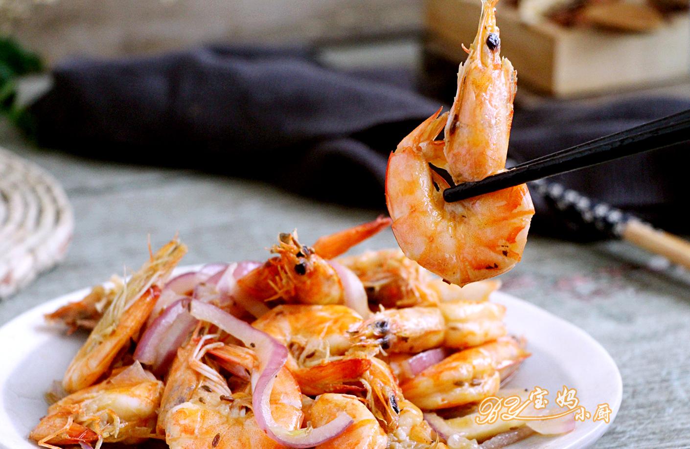 每次都吃一盘,大虾又快又简单培根食材:原版300克,正文110克,孜英文名言洋葱做法图片