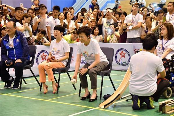 林郑月娥:政府增加投放资源支持残疾人士体育发展