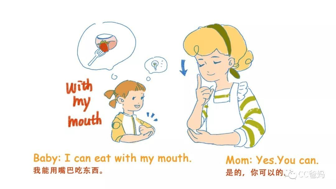 宝贝,你知道嘴巴都可以用来干什么吗?双语启