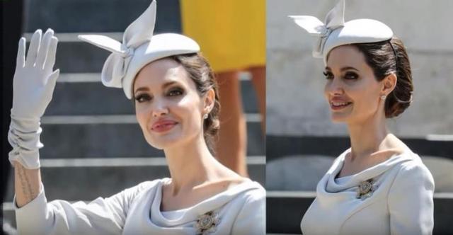 安吉丽娜朱莉贵气逼人!以一身公爵夫人造型出席皇室活动!