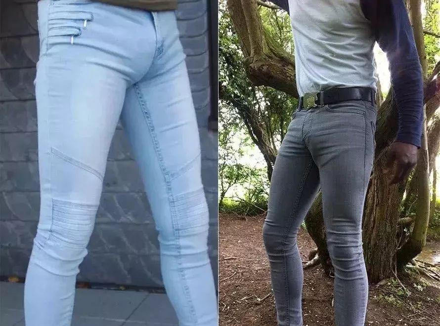 7 爱穿紧身裤的男生 女性发声:穿紧身裤的男生再恶心不过,尤其是布料
