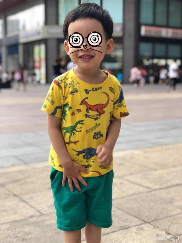 刘璇首晒三岁儿子正面照称给儿理发被老公嫌丑
