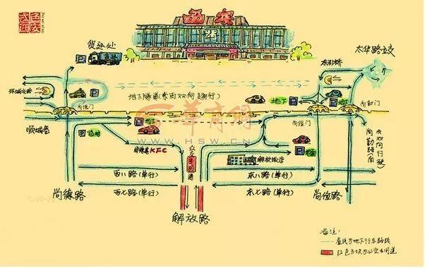 """"""" 2009年跟爱人去青岛旅游,无意当中看到一张手绘的青岛地图,一下子"""