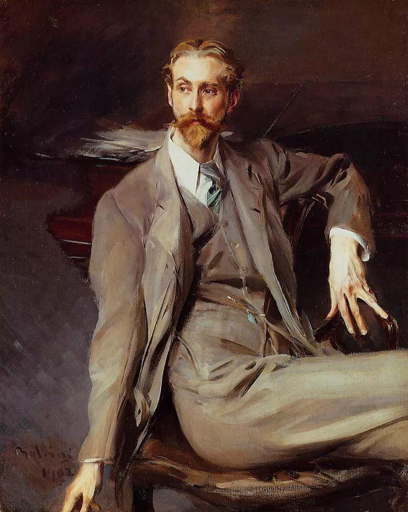 古典与印象,浪漫与洒脱,一位与萨金特齐名的肖像画家