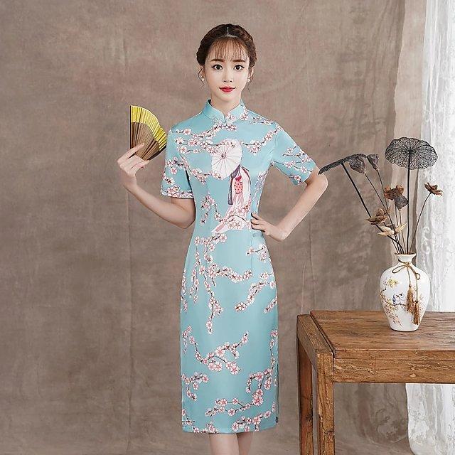 少女唐美人旗袍,靓丽的时装,穿上才知有多美!