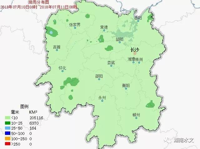 益阳,湘西,怀化,邵阳,郴州等地局部有零星降雨,点最大降雨为安化县东图片