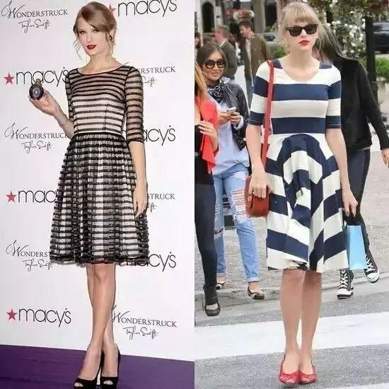 为什么你穿条纹裙显胖?