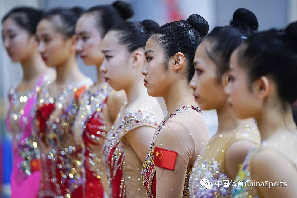 中国艺术体操队举行亚运会选拔测试赛