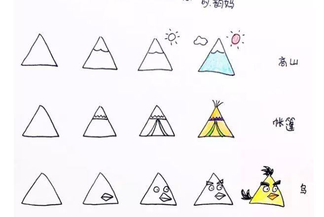【创意简笔画】三角形的联想图片