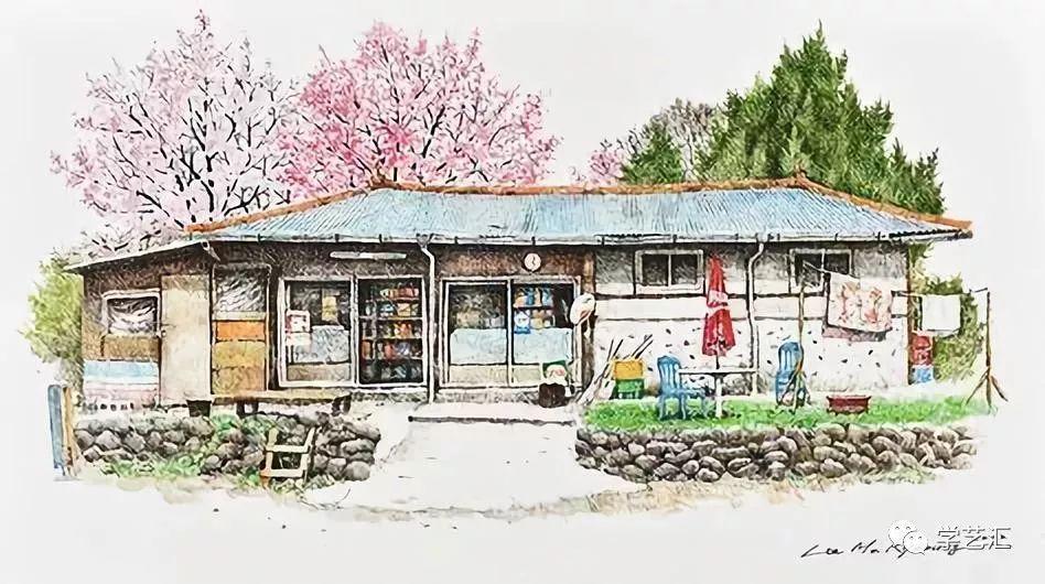 我觉得是,画的有个人特点 韩国艺术家lee me kyeoung的彩铅风景 用图片