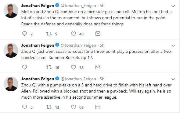 周琦爆发!费根激动6连推美网友:他能取代卡皇