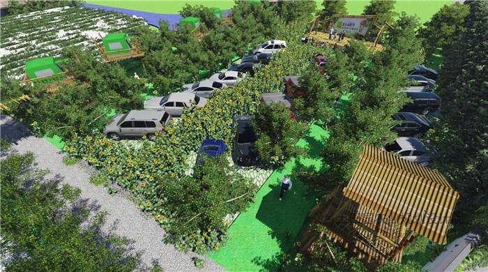 生态停车场效果图图片