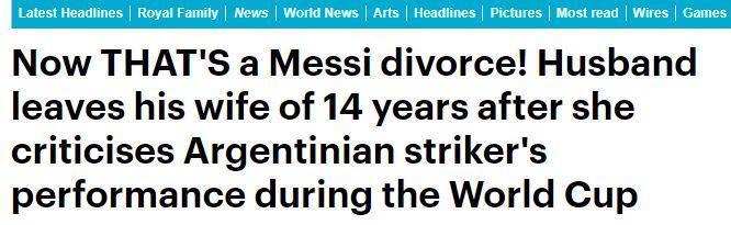不满妻子批评梅西,俄罗斯男子提出离婚
