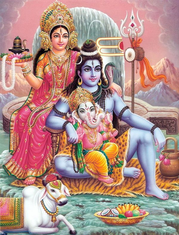 和�z�_湿婆神,雪山女神和他们的儿子象头神