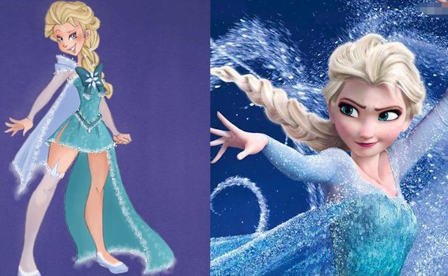 当迪士尼公主变成美少女战士,乐佩变美了,花木兰有点
