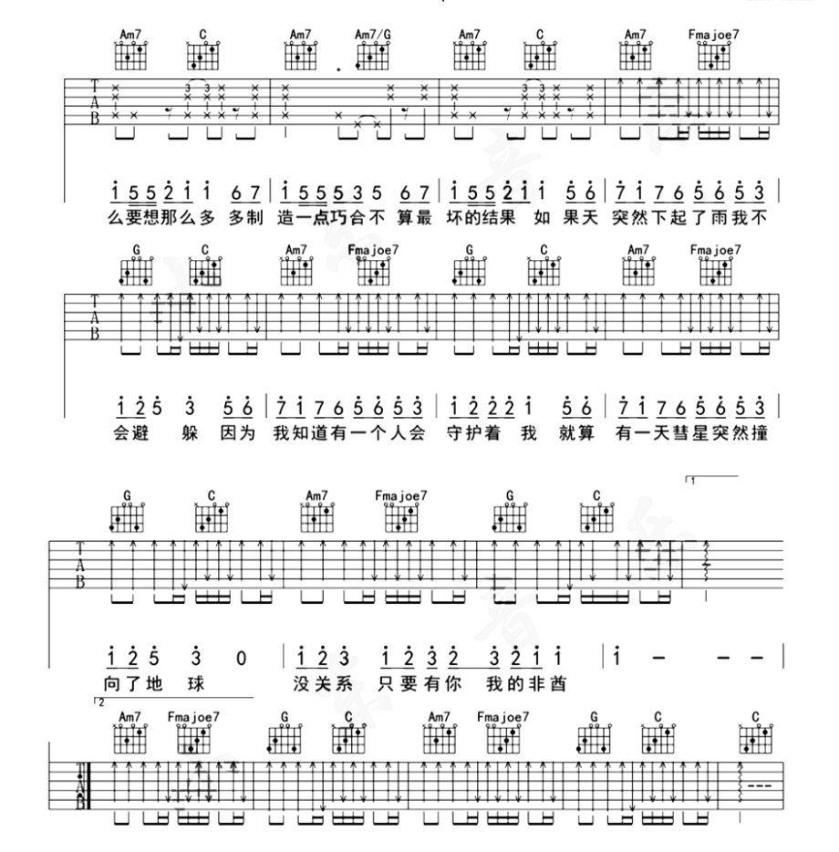 往后余生》 马良 薛明媛 周笔畅 《晴天》 周杰伦 如果你有想要的吉他