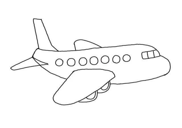 簡單的飛機簡筆畫來啦