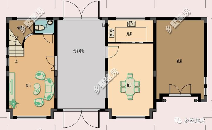两层精致,三层农村,原来材质自建房也舒适室内设计大气英文图片