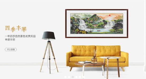 夏天客厅需要清凉的装饰画,这样选择简直透心凉