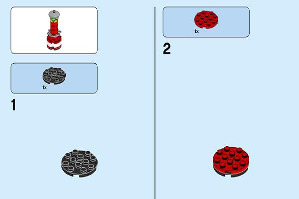 超级简单4个步骤,用乐高搭建海洋灯塔,详细拼装图纸很