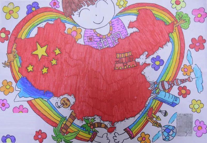 """榆林第三届""""我心中的祖国""""创意绘画涂鸦图片"""