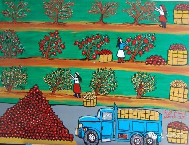【他山之石】刀郎农民画里的瓜果飘香图片