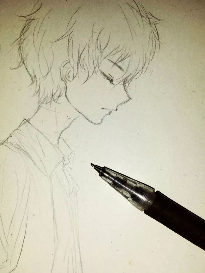 手绘-动漫,漫画人物,适合手绘的图,铅笔稿