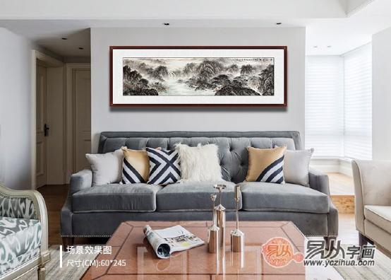 适合挂在客厅墙上的山水画,尽览祖国壮丽山河