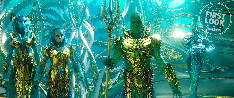 DC电影《海王》水下世界来了,女主紧身人鱼装大秀性感身材