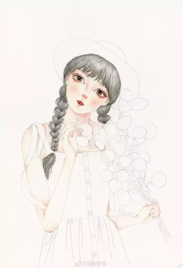 水彩人物教程:9个小步骤教你画文艺风小仙女