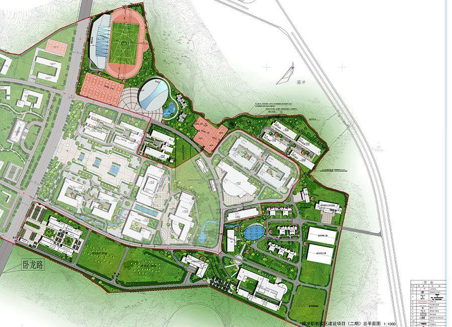 浦北中学新校区平面图