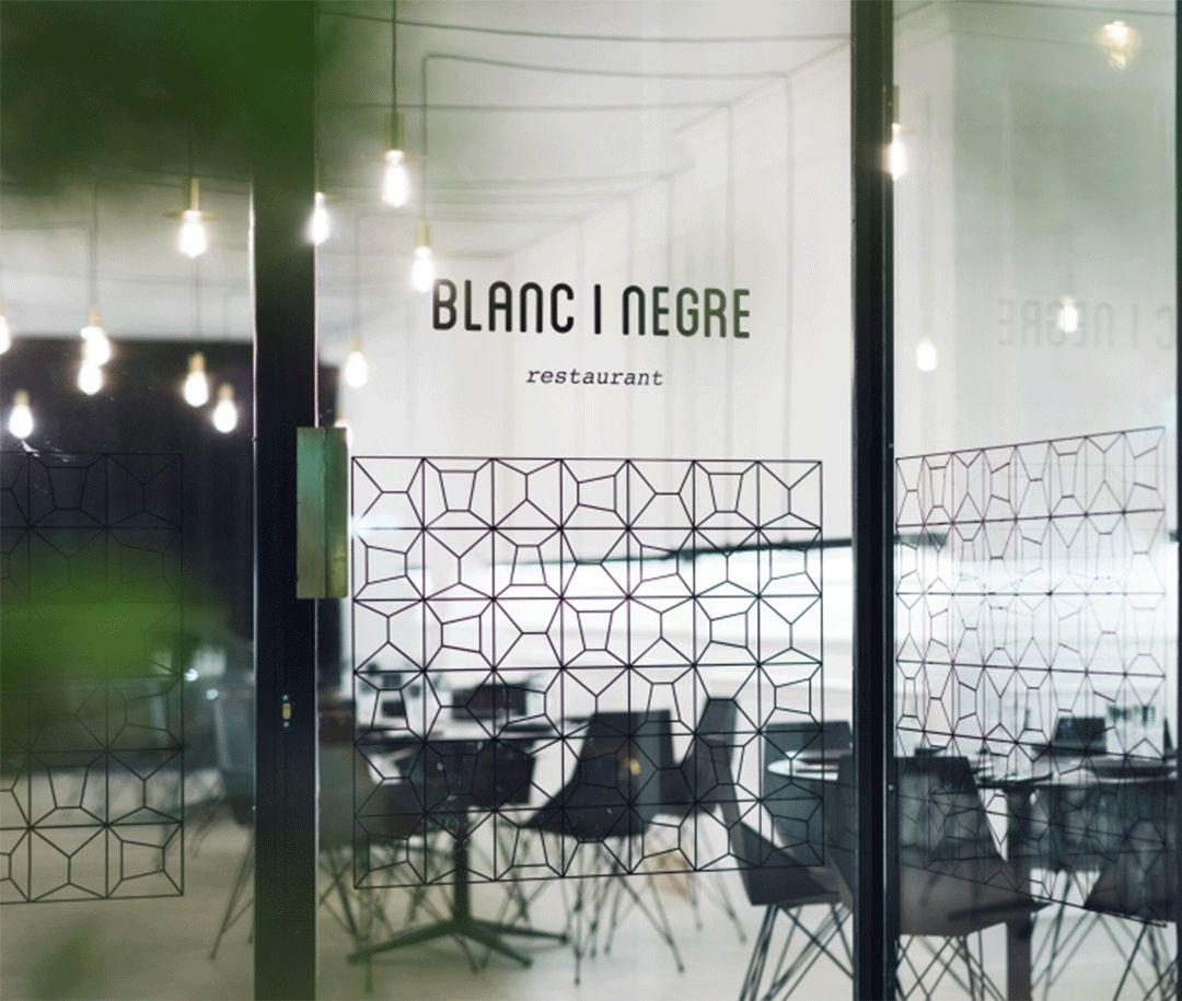 餐饮空间 ⇛  Blanc i Negre Bar的黑白几何语言