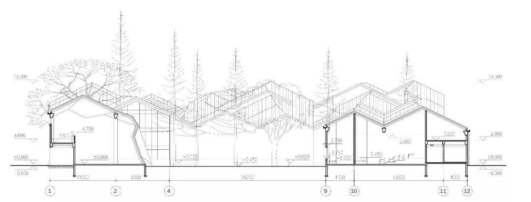 总平面图 建筑师:李兴钢建筑工作室 地址:绩溪,安徽省,中国 建筑设计