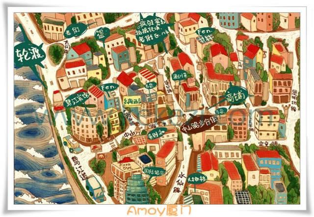 厦门各大景点手绘地图及景点介绍