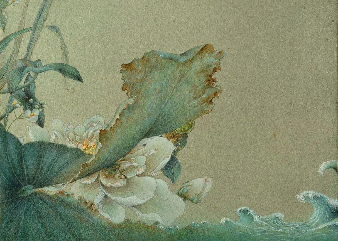 彩彩铅手绘图片古风