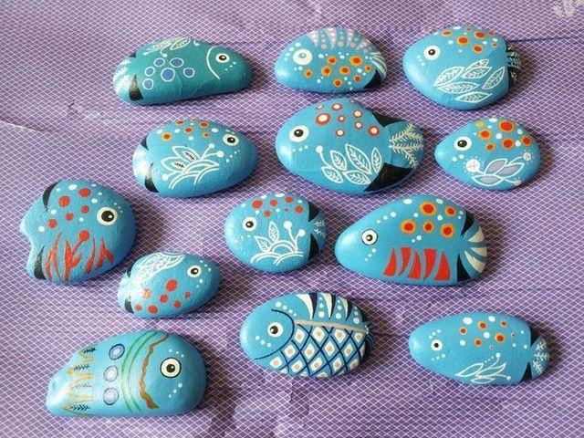 石头也疯狂|做石头彩绘,享自然野趣图片