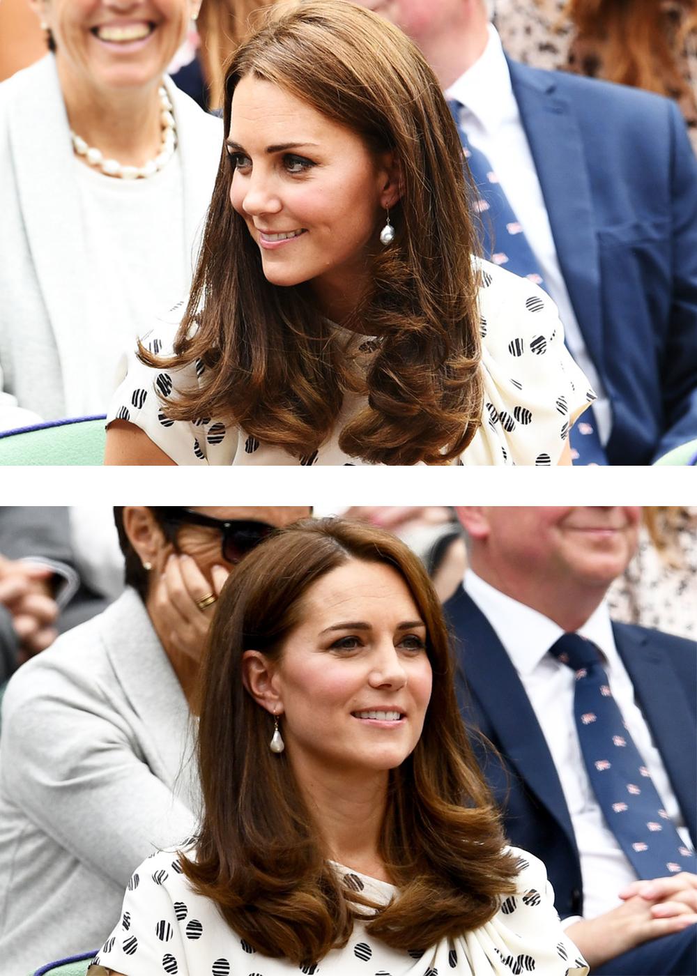 凯特梅根两位王妃观战温网,平民出身的她们靠得体的衣品好评如潮