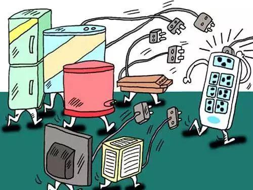 重点是:不要在同一插座上连接使用多个大功率电器.