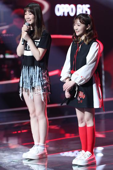 打包安琪左:黄安琪,右:刘安琪