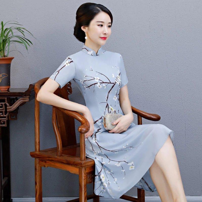 大气随性,双层改良长旗袍,充满潮流时尚范儿!