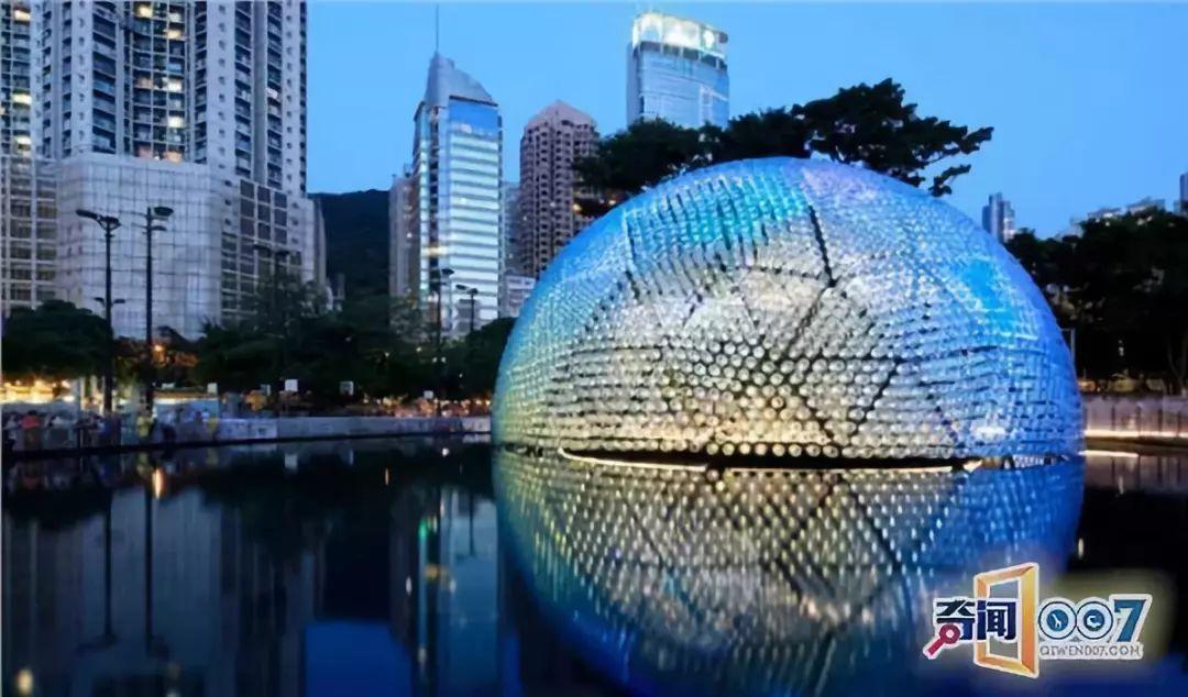 环保 | 2300多个回收塑料瓶打造成香港灯笼凉亭