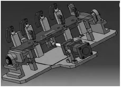 薄壁壳体工艺难点解决:四工位翻转夹具图片