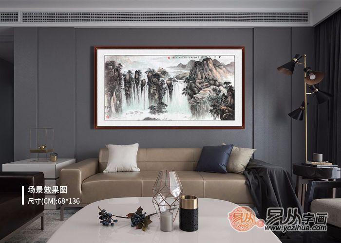 客厅装饰新潮流,精美的名人真迹山水画