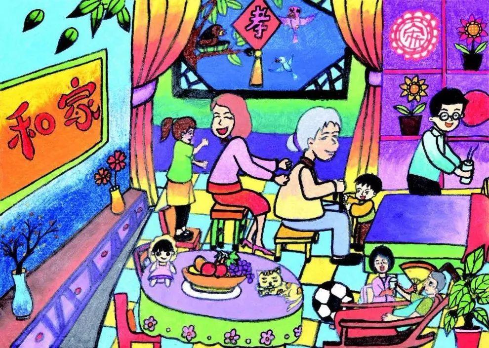 """宿迁市""""童画新时代 手绘价值观""""优秀儿童画作品展示(第三期)"""