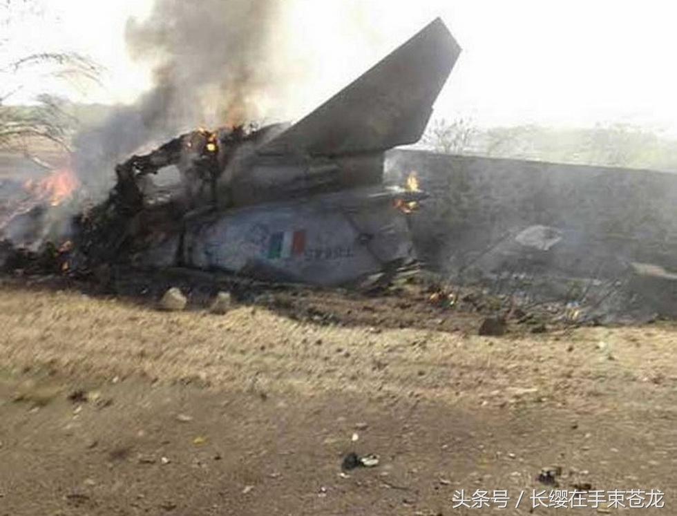 印度空军一架米格-27战斗轰炸机进行日常训练时在拉贾斯坦邦坠毁